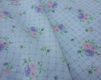 Flower All Over Print Cotton Flannel Pajama Fabric