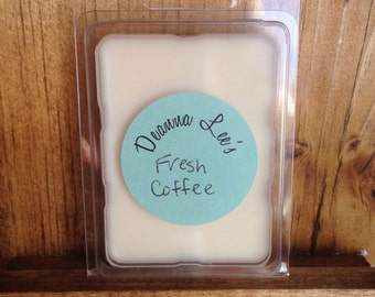 Fresh coffee soy wax melts - coffee scented wax tarts - scented soy tarts - wax tarts - handmade wax tarts - candle melts - flameless candle