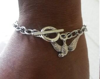 Stainless Steel Sparrow Link Bracelet