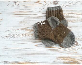 Knitted socks, baby - 5 / Вязаные носочки, детские - 5