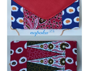 Red Ankara clutch,Envelope clutch,African print purse,Bags and Purses,Patchwork Clutches,Gift,Party clutch,Holiday Evening bags,African bags