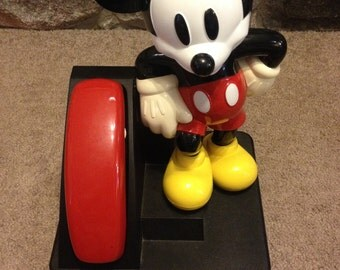Vintage Rare Mickey Mouse Push Button Telephone 1995