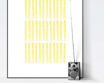 Modern Minimalist Lines Abstract Art. Water Color Art Print. Home Decor. Wall Art. Scandinavian Decor. Large Oversized Art. Geometric Art