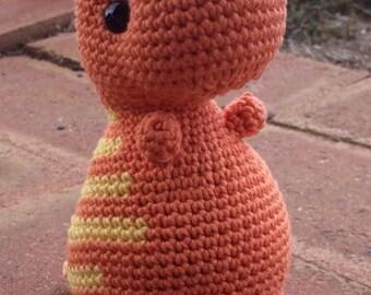 Crochet T-Rex Dinosaur Toy