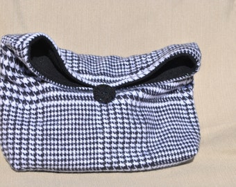 fold over clutch, cosmetic bag, pouch