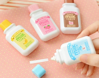 lot of 4 pcs Milk bottle Correction Tape material kawaii stationery office school supplies papelaria