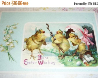 Adorable Chicks and Eggs U/S Clapsaddle Antique Easter Postcard