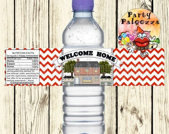 Printable personalized  Realtor Water Bottle labels