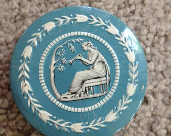 Grecian Lady with Horn Tin