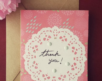 Handmade/Handwritten Thank You Card