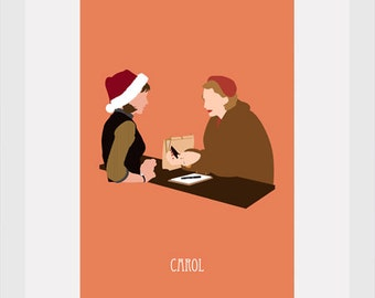 carol movie poster postcard 4'X6'
