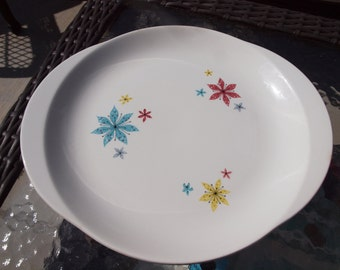 Retro Ceramic Serving Platter