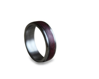 Titanium Ring, Mens Titanium Wedding Band, Titanium Engagement Ring, Titanium Wood Ring