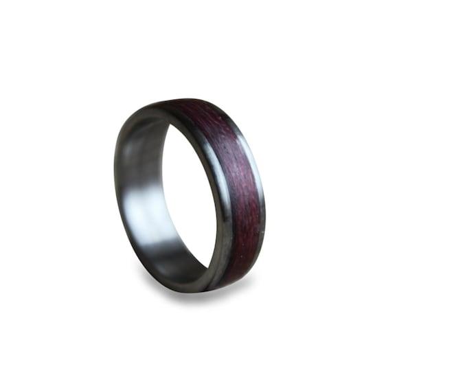 Titanium Ring, Mens Titanium Wedding Band, Titanium Engagement Ring, Titanium Wood Ring