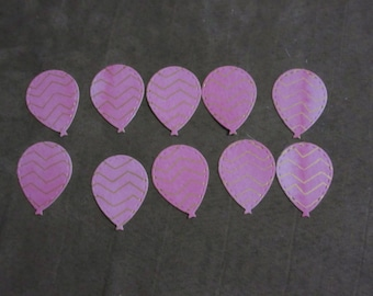 10 pink and gold balloon die cuts