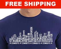 Cowboys Skyline T-Shirt - Texas Sports - Dallas - Father's Day Gift