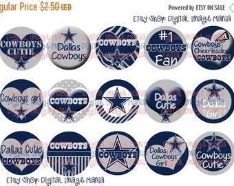 HUGE SALE INSTANT Download Dallas Cowboys Inspired 4x6 Digital Printable 1 Inch Circle Bottle Cap Images
