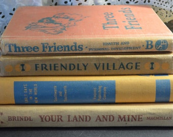 Bookstack of Childrens  Vintage School Books