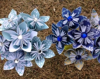 Set of 6 Stems Paper Kusudama- Table Decoration- Wedding Decor