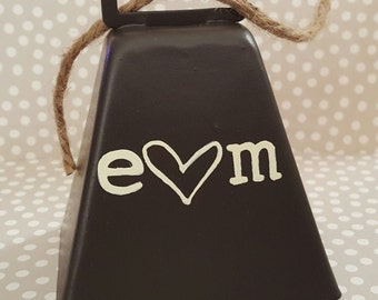 Rustic Wedding Kissing Bell - 2 Sided Monogrammed Kissing Bell