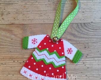 Christmas Scandi Style Jumper Tree Decoration
