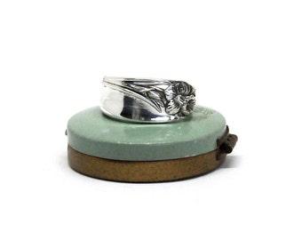 daffodil ring, spring ring,spoon ring, flower ring