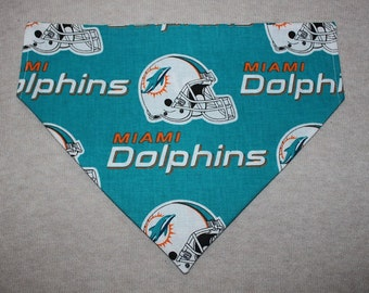 Miami Dolphins Dog Bandanna in Small, Medium or Large