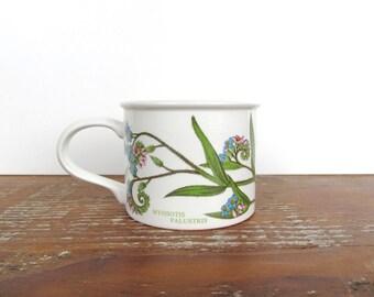 Vintage Portmeirion Botanic Garden Forget Me Not Tea Cup, Portmeirion Coffee Mug