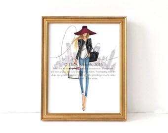 OOTD (Fashion Illustration Print)