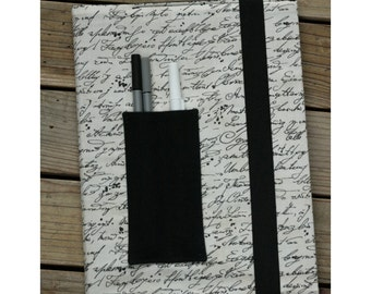 Composition notebook cover - Hand writing