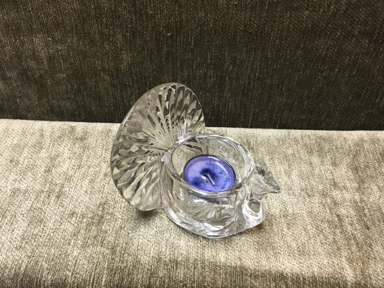 Avon Turkey Votive Glass Turkey Candle Holder By