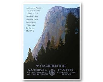 Yosemite National Park Travel Poster (El Capitan)