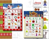 SALE!!! Religious Christmas Bingo 20 Printable Cards INSTANT DOWNLOAD