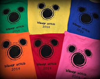 2016 Disney Matching Shirts family Vacation Tshirts Mickey Mouse Head Swirl