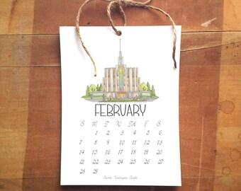 2016 LDS Temple Calendar