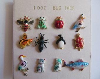 Enamel  Bug Pin  - Tacs - lot of  12-