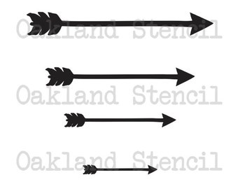 Arrow STENCIL with 4 different sizes for Painting Signs, Wood, Fabric, Canvas, Scrapbook, Airbrush, Crafts, Party Decor, Showers