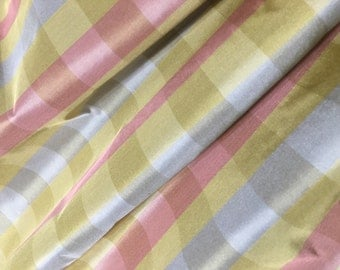 Plaid Taffeta Fabric Etsy