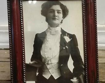 ON SALE NOW Vintage Black and White Framed Postcard