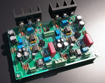 Dual Class-A II Reference Headphone Line Amp PC Board Assembled and Tested