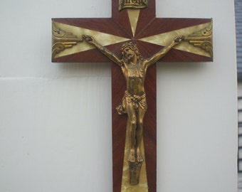Reserved for JAMES - Vintage French Crucifix