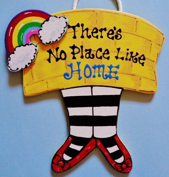 There's No Place Like Home DECOR SIGN Wall Plaque Home