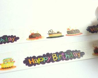 Happy Birthday Washi Tape 20mm x 5m