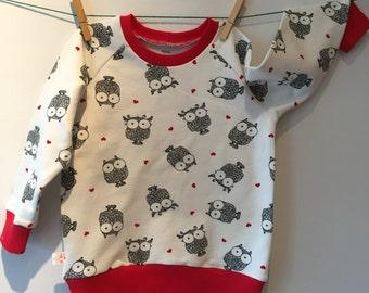 Owls sweatshirt, eco, mt 90