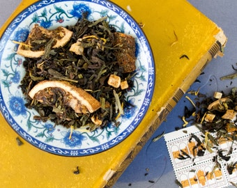 Peach Black Tea / Black and Green Tea Blend / Green tea blend / Peach Tea / Mango Tea  / Loose Leaf Tea Blend / BENGAL PEACH