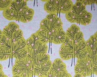 Trees in Yellow - Hokkoh Cotton Canvas Fabric Fat Quarter