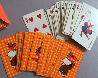 Card Deck PEANUTS SNOOPY Playing Cards Hallmark Complete Deck Made in USA Vintage