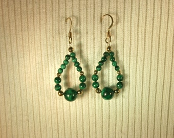 Malachite Earrings # 127E