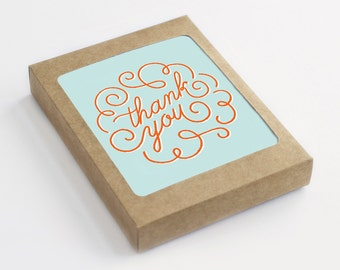 Thank You Card Set - Thank You Swirl - Pack of 8