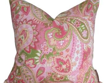 Pink Cushion, Green Cushion,  Cream Cushion,  Paisley Cushion, Shabbu Chic Cushion, Cushion Cover 45 x 45cm FREE POSTAGE Australia Wide